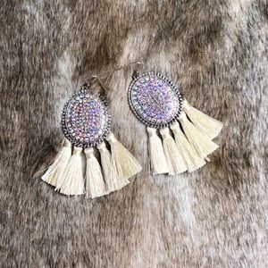 New Ivory Fringe Earrings